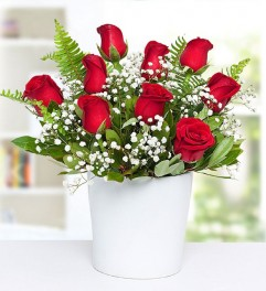 Seramikte Kırmızı Güller
