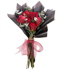 Mini Kırmızı Gül Çiçek Buketi